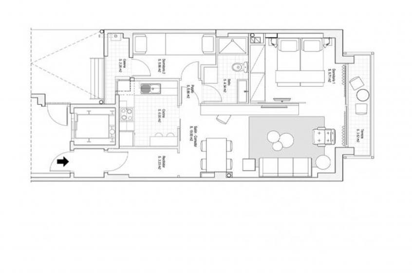 Hot Jazz 31 Apartment - Apartment in Barcelona für 5 Personen