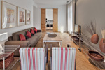 Spectacular living room of the apartment in Barcelona Rambla Deluxe A
