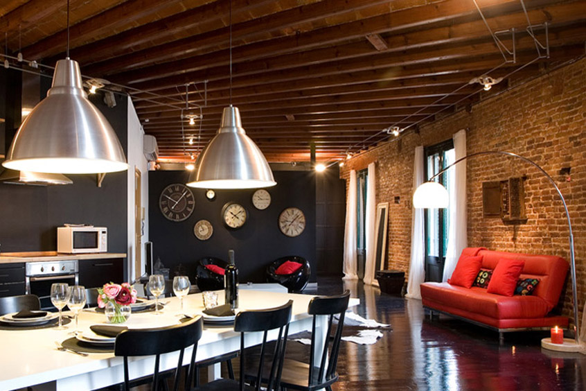 Contemporary loft apartment apartment in barcelona for 6 - Location loft barcelone ...