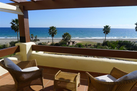 great view to the Mediterranean sea in Marbella Apartment