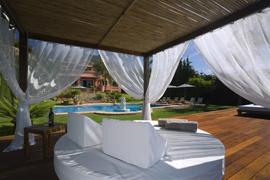 relax zone in villa Marbella