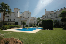 green gardens and big pool in Marbella Apartment