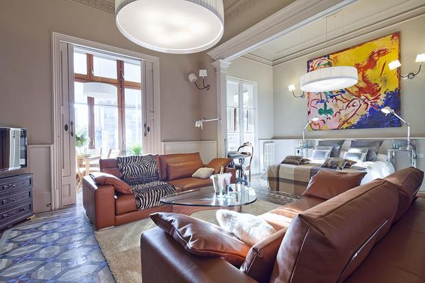 luxury rambla a apartment barcelona living room a b Luxury Rambla Catalunya Apartment in Barcelo