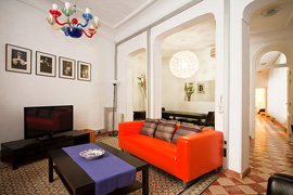 A spacious apartment in Madrid with a lot of style