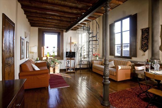signoria view florence apartment living dinig a b The Signoria View apartment – Florence