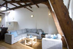 Apartment Amsterdam / bright living room very charming with exposed beams