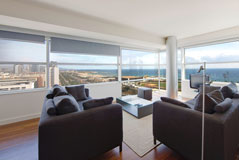 Astonishing view from Vista apartment drawing room, the best beach view of our Barcelona apartments