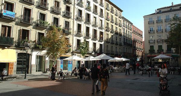 Malasaña omgeving. Madrid